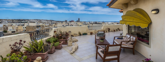 Penthouse in Sliema with a large terrace